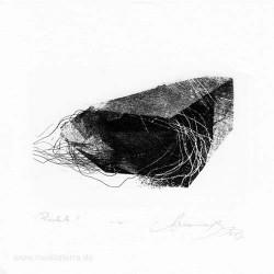 Aleksandra Bury 1, Poland, Parachute II, Aquatint Etching, 8 x 12 cm, 2015
