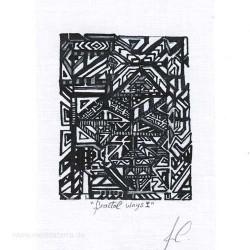 Ana Carrasco 2, Peru, Fractal Ways I, Charcoal and Ink, 7,9 x 9,9 cm, 2015