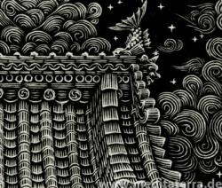 """Detail aus dem Kunstwerk """"Above the Roof"""" von Atsuhsi Matsuoka"""