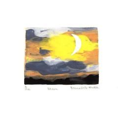 Bernadette Madden 2, Ireland, Moon, Screenprint, 9 x 7 cm, 2015