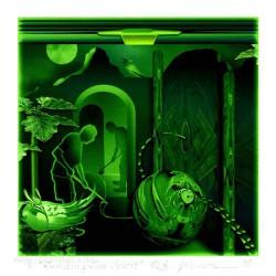 Beverly Ashcraft-Johnson 2, USA, Tending the Spirit, Mezzotint and Digital, 13 x 13 cm, 2015