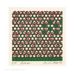 Claudia Hobi 1, Switzerland, Bazar, Monotypie, 7,5 x 7,5 cm, 2012