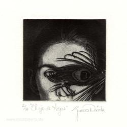 Dolores Romero 2, Mexico, El Ojo de Argos, Etching, 9,5 x 9,6 cm, 2015