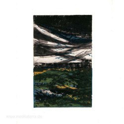 Gordana Petrović 2, Serbia, The wave 2, Drypoint + Linocut, 11 x 7 cm, 2014