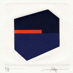 Iñaki Elosua 1, Spain, Hiru, Collage + Embossing, 13 x 13 cm, 2014