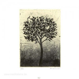 Kaori Suzuki 2, Japan, The Tree, Copper Plate Print, 7,8 x 11 cm, 2015