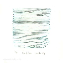 Luis Arias 2, Costa Rica, Seaoflove, Drypoint, 10 x 9 cm, 2015