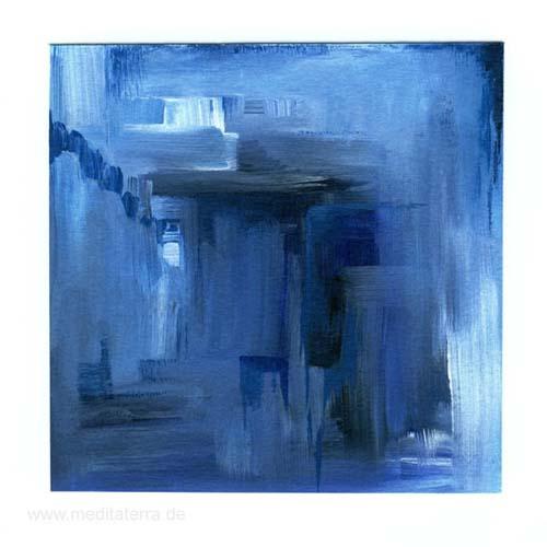 Margaret E. Graham 3, USA, Blue, Acrylic, 12,3 x 12,3 cm, 2015