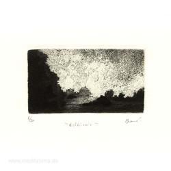 Pascale Braud 1, France, Éclaircie, Aquatinte + Etching, 5,5 x 10,2 cm, 2000