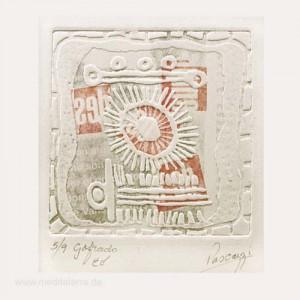 Patricia Pascazzi 1, Argentina, Agua Aire I, Gofrado EV, 9,7 x 9,5 cm, 2015