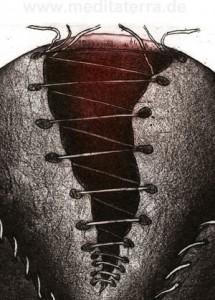 """Details aus dem Bild """"Peace I"""" des indischen Künstlers Rakesh Bani"""