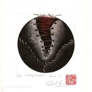 Rakesh Bani 2, India, Peace I, Etching and Aquatint, 10 x 10 cm, 2014