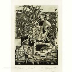 Sergiy Hrapov 1, Ukraine, Wine 1, Etching, 12,5 x 9 cm, 1999