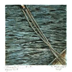 Thierry Fleuret 3, France, Seil, Etching, Aquatint, 13 x 13 cm, 2015