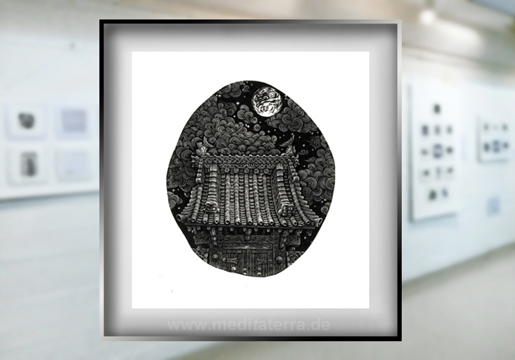Atsushi Matsuokas Kunstwerk in der Ausstellung in Köln