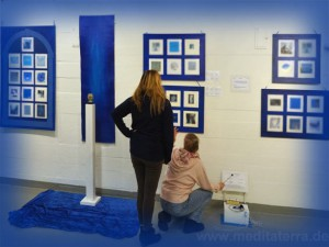 Ausstellung Kunstmeditation Blau