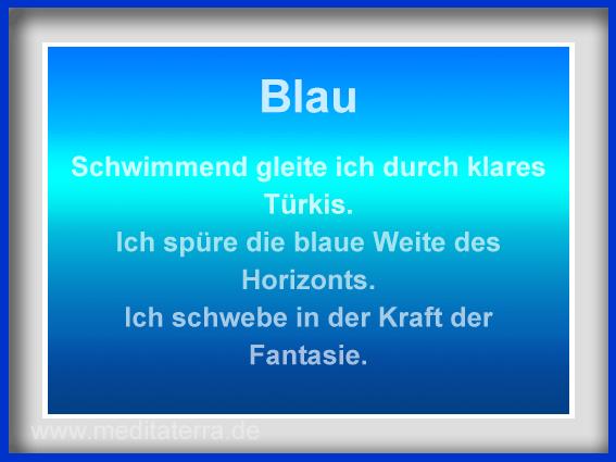 meditaterra Fürbitte Blau