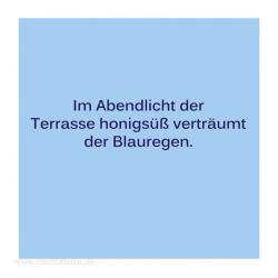 Haiku-Gedicht,, Blauregen, Gabriele Walter