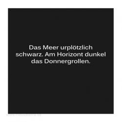 Haiku-Gedicht, Donnergrollen, Gabriele Walter
