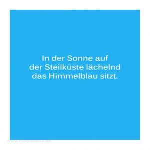 Haiku-Gedicht, Das Himmelblau, Gabriele Walter