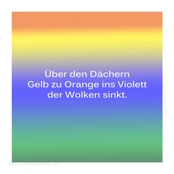 Haiku-Gedicht, Über den Dächern, Gabriele Walter