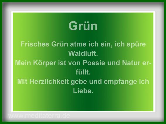 Meditaterra Affirmation - grün