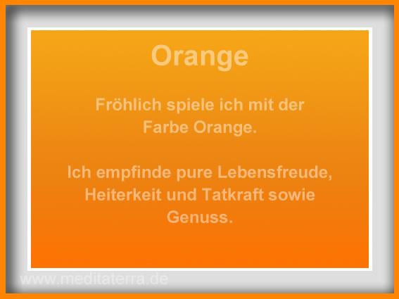 Orange-Kunstmeditation