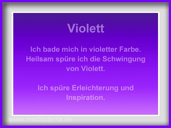 meditaterra-Affirmation violett - Kunstmeditation