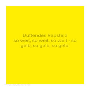 Haiku-Gedicht, Rapsfeld, Gabriele Walter