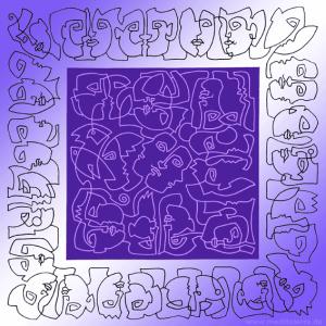 Violett Köpfe von Künstler Kurt Ries