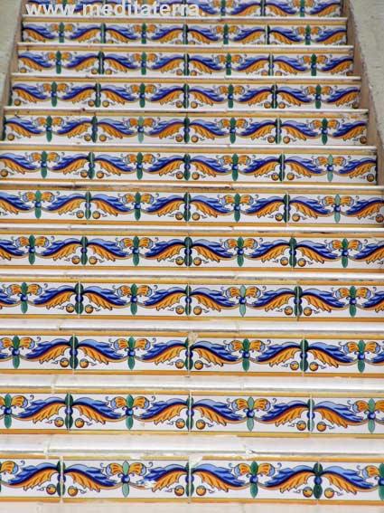 Mosaik, Treppe, Fliesen, Mittelmeer