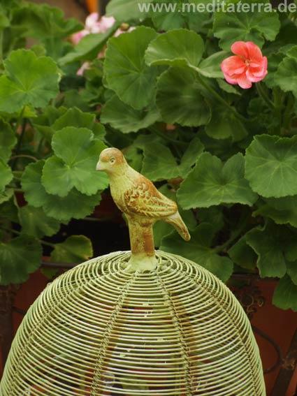 Vogelkäfig mit Verzierung