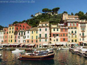 Flanieren und Bummeln am bunten Hafen von Portofino