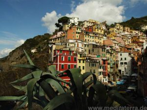 Blick zum Cinque Terre-Dorf Riomaggiore