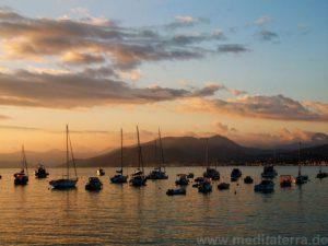 Sonnenuntergang in der Bucht von Sestri Levante