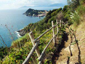 Wanderweg Punta Manara bei Sestri Levante