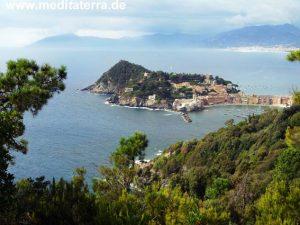 Die Halbinsel Montebello, Ligurien, Sestri Levante