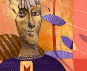 "artist, Bulgaria, ""Dream, Manya Vaptsarova, detail"
