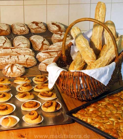 Frisches Brot gebacken