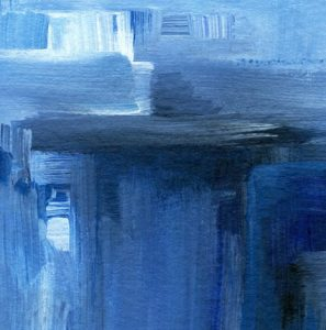 """Detail aus dem Bild """"Blue"""" der amerikanischen Künstlerin Margaret E. Graham"""