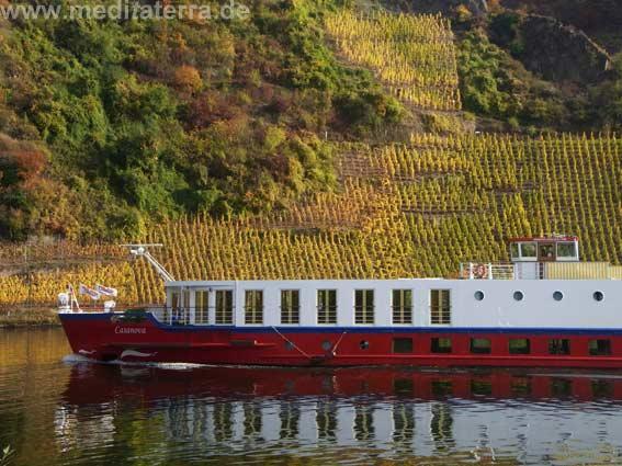 Schiff bei Beilstein an der Mosel