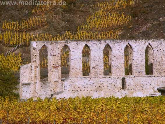 Romantik pur! Die alten Gemäuer der Klosterruine Stuben.