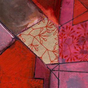 """Detail aus dem Bild """"Spring and Bricks"""" der belgischen Künstlerin Catherine Lemaire"""