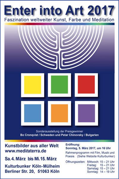 Enter into Art - Cologne 2017 - exhibition miniprint mixed media