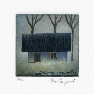 """Bo Cronqvist, 4, Sweden, """"Mist"""", 2012, Etching, 10 x 10 cm"""