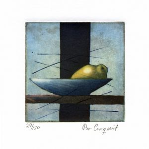 """Bo Cronqvist, 8, Sweden, """"Lemon"""", 2014, Etching, 10 x 10 cm"""