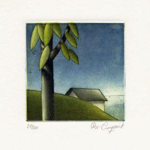 "Bo Cronqvist, 10, Sweden, ""Boathouse"", 2010, Etching, 10 x 10 cm"