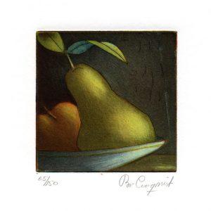 "Bo Cronqvist, 13, Sweden, ""Dark and Light"", 2011, Etching, 10 x 10 cm"
