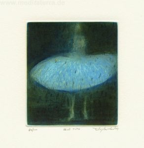 Stephen Lawlor 1, Ireland, Blue Tutu, 2011, Etching, 10 x 8 cm