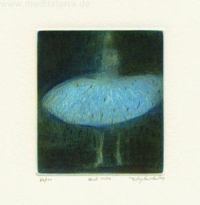 Stephen Lawlor 1, Ireland, Blue Tutu, 2011, Etching, 10 x 8 cm